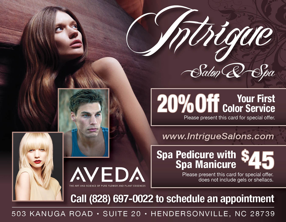 Specials at Intrigue Salon and Spa - Hendersonville, NC